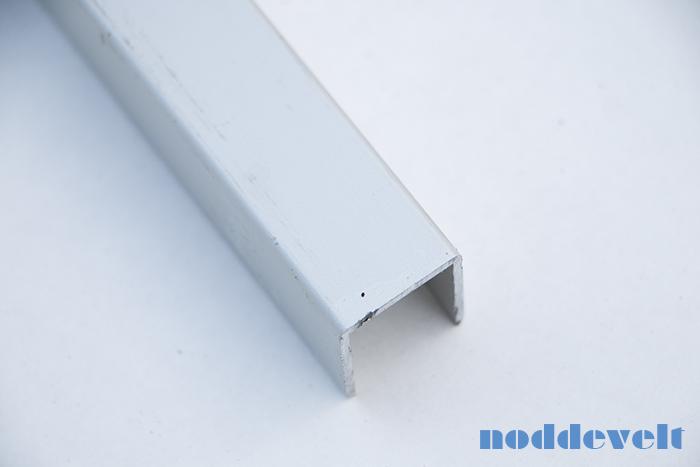 Aluminium eind u-profiel 18mm