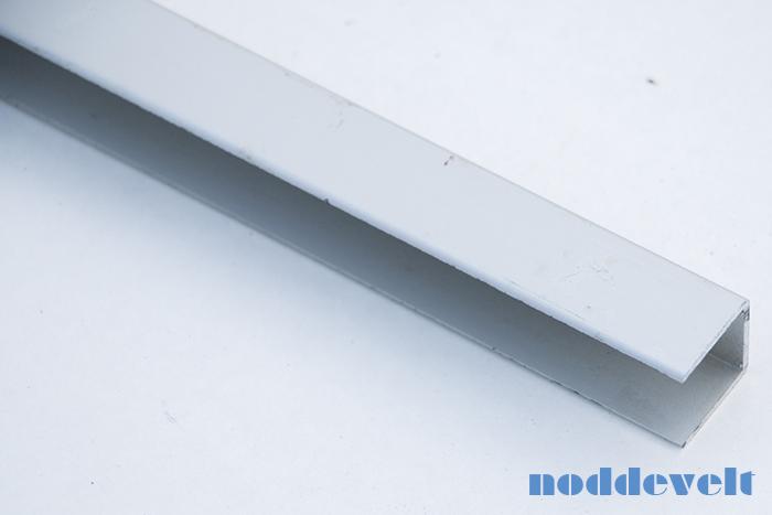 U-profiel 18mm aluminium